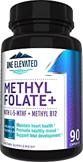 Double Strength & Most Bioactive Methyl Folate! Uniquely Formulated with Highest Pharmaceutical Grade Methylcobalamin (B12...