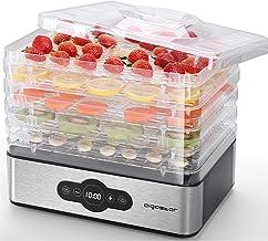 Aigostar Crispy-Deshydrateur alimentaire avec 5 plateaux. Déshydrateurs sans BPA, 240W. Déshydrate fruits, viande, légumes...