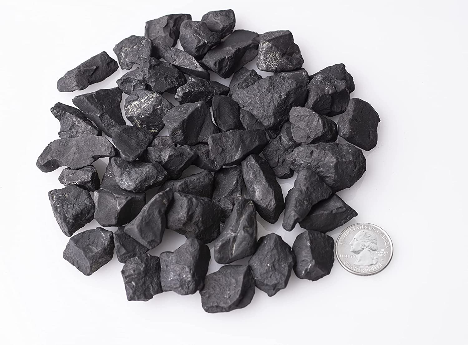 SHUNGITE STONES for water cleaner 5 LB Natural mineral from Karelia Russia