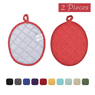 VEEYOO 100% Cotton Pot Holders Hot Pads Quilted...