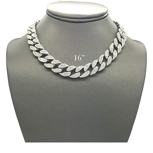 ce4c3e857711c Cuban Link Diamond Chain: Amazon.com