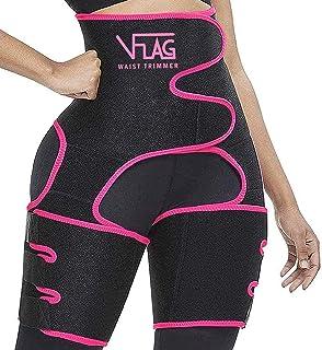 VFLAG Waist Trainer for Women High Waist Thigh Eraser Butt Lifter Sweat Shaper Thigh Trimmers with Adjustable Belt Hip Enh...