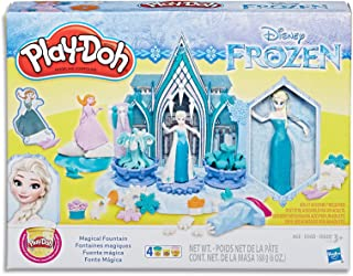 Play-Doh - Disney Princess Frozen - Magical Fountain Playset - Doll, Acc & 4 Tubs of Dough - Creative Kids Toys - Ages 3+