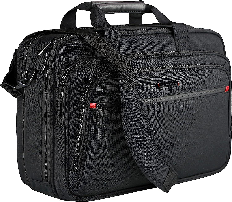 VANKEAN Laptop Messenger Bag Premium Laptop Shoulder Bag Laptop Case Business Briefcase Fits Up to 17.3 Inch Laptops Expandable Water-Repellent for Men/ Women Computer Bag Travel/ Business/ School