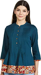 Amazon Brand - Myx Women's Regular Fit Short Kurti