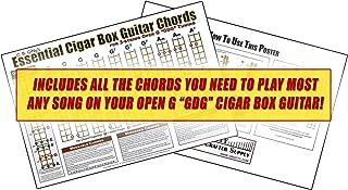 C. B. Gitty Open G GDG Essential Cigar Box Guitar Chords Poster