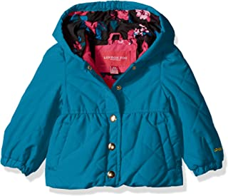 London Fog Girls Quilted Midweight Jacket with Snap Closure Transitional Jacket