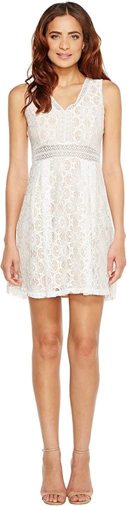 Sleeveless V-Neck Lace Dress JS7A9343