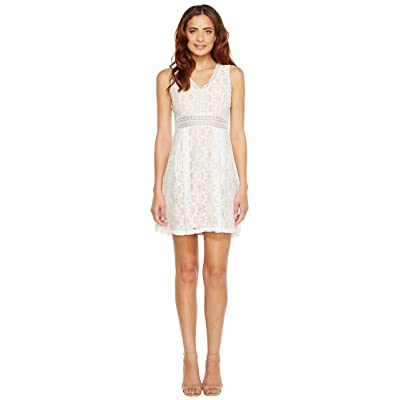 Jessica Simpson Sleeveless V-Neck Lace Dress JS7A9343 (Ivory/Nude) Women