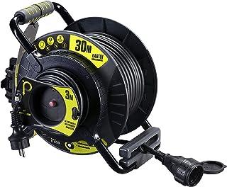 Masterplug OATRE3016RRFL3IP-PX Pro XT Kabeltrommel für den Außenbereich, Anti-Giro, 3680 W, 250 V, Grau/Schwarz