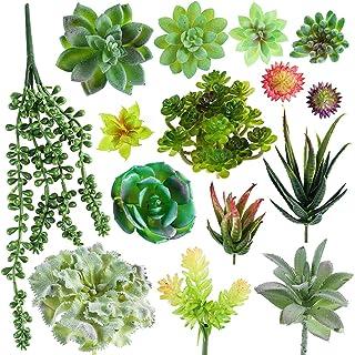 ROSEBEAR Plantes Succulentes Artificielles Plantes Succulentes à Fleurs Artificielles Fausses Plantes Vertes Non Potées po...