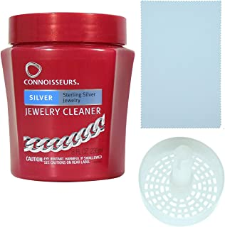 Jewelry Cleaner, for Silver, Diamond, Platinum, Gold & Precious Stones with Polishing Cloth, Dip Tray & Brush - by sym & sue Venture