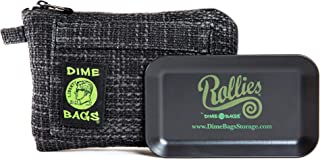 Rollies Pouch -Padded Pouch w/Rolling Tray & Removable Smell Proof Pouch (8 in) (Black)