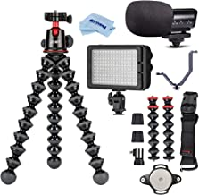 JOBY GorillaPod 5K Kit + Rig Upgrade, Professional Tripod Stand with Ball Head for DSLR or Mirrorless Cameras with Lens (u...