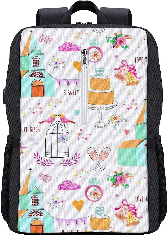 Wedding Giftwrap Laptop Backpack Women Max 73% OFF Luxury Backpacks College Men Boo