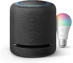 Echo Studio-بلندگوی هوشمند با وفاداری بالا با لامپ بلوتوث رنگ Sengled-کیت استارت خانه هوشمند Alexa