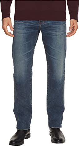 AG Adriano Goldschmied Matchbox Slim Straight Led Denim in 12 Years River Veil