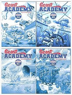 NEW LIST! Art of Problem Solving: Beast Academy Grade 4 Practice Workbook Set (4 Books)