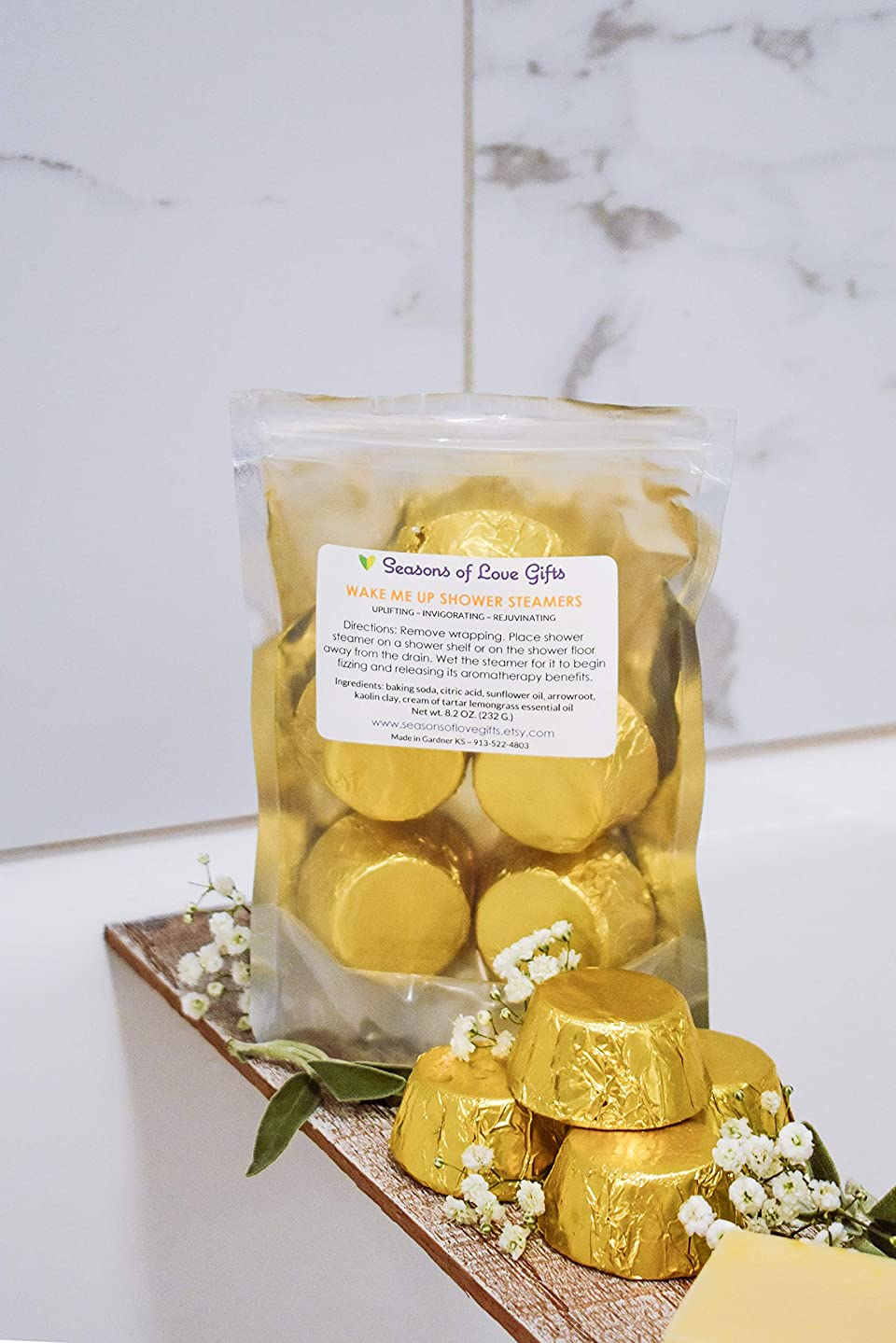 Shower Steamers - Shower Bombs Aromatherapy - Shower Bombs Lemongrass - Wake Up Shower Steamers