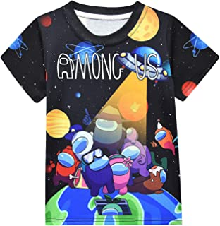 Yowhdae Boys A-mong Us Tops Tees Kids Short Sleeve Cartoon T-Shirt Summer Clothes