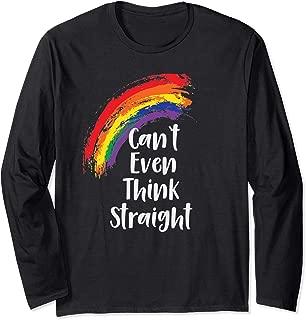 Funny Gay Shirts For Men Women Rainbow Gay Pride Month Merch Long Sleeve T-Shirt