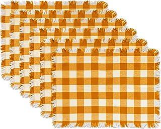 DII CAMZ10430 Table Runner Placemat S/6 Orange CAMZ37572