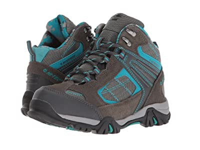 Hi-Tec Kids Altitude Lite II WP (Toddler/Little Kid/Big Kid) (Charcoal/Tile Blue) Boys Shoes