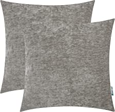 HWY 50 Grey Gray Cashmere Soft Decorative Throw Pillows Covers Set Cushion Cases for Couch Sofa Living Room Comfortable 20 x 20 inch Pack of 2