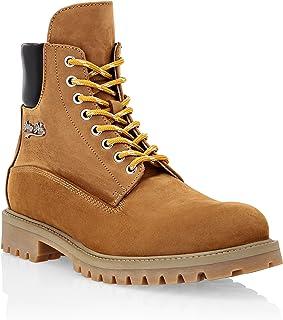 Philipp Plein Masculin Nabuk Leather Boots Low Flat
