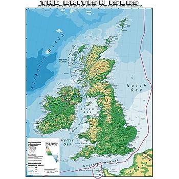 Cartina Italia In Inglese.Carta Geografica Murale Gran Bretagna In Lingua Madre Inglese Amazon It Cancelleria E Prodotti Per Ufficio