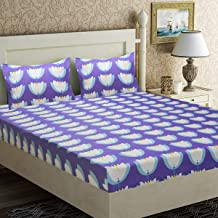 Home Candy Charming Motifs Design Microfiber Double Bed Sheet with 2 Pillow Covers