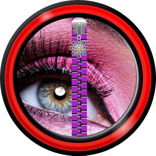 Tela de bloqueio de zíper - Maquiagem