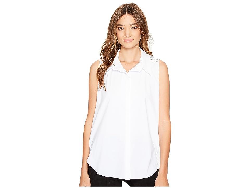 Lysse Ava Button Down Shirt (White) Women