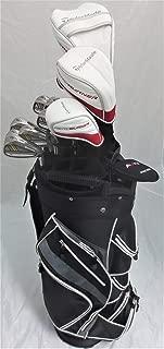 TaylorMade Mens Taylor Made Golf Set - Complete Driver, Fairway Wood, Hybrid, Irons, Putter, Clubs Cart Bag Stiff Flex