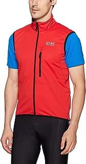 GORE BIKE WEAR Men's Soft Shell Cycling Vest, GORE WINDSTOPPER, Vest, Size: M, Red, VWELEM