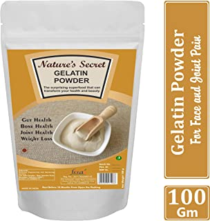 Nature's Secret Gelatin Powder for face mask hair removal and joint pain (100 gm)