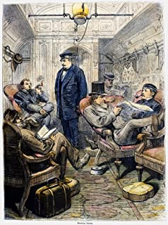 Pullman Car 1876 Nthe Smoking Saloon In A Pullman Parlor Car On The Pennsylvania Railroad Between New York And Philadelphi...
