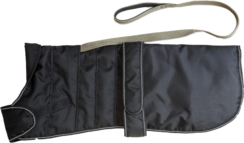 Danish Design Pet Products Harness Waterproof Dog Coat (23.6in) (Black)