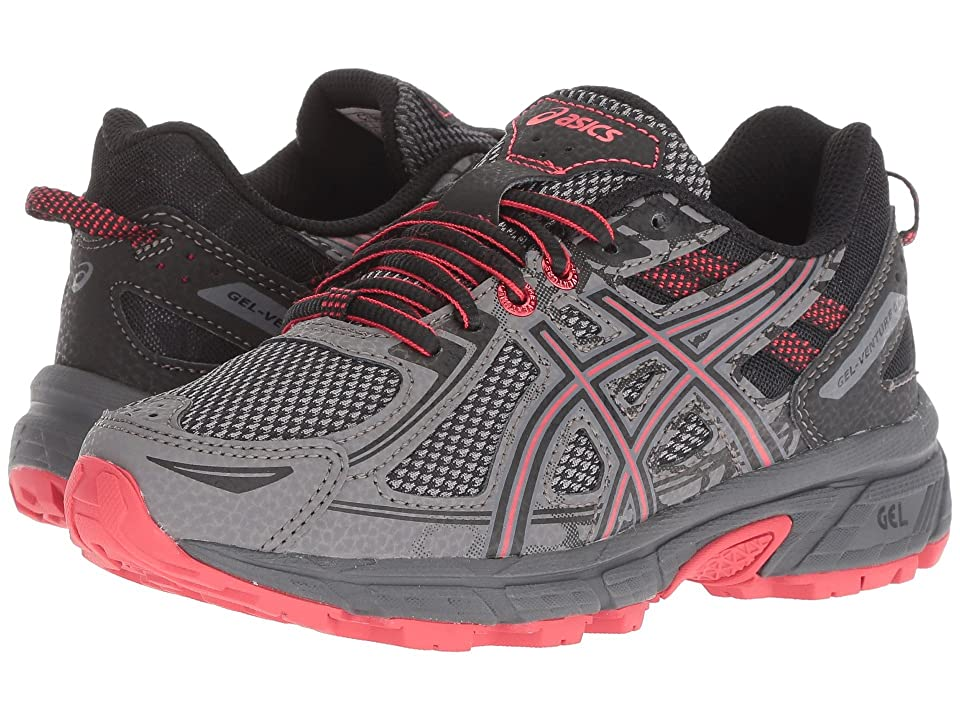 ASICS Kids GEL-Venture 6 GS (Little Kid/Big Kid) (Carbon/Cayenne) Boys Shoes