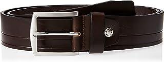 Sponsored Ad – OCTAVE Men's Pin Buckle Embossed Stripe Casual Leather Belt, Dark Brown