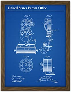 Lake Submarine Vessel Part Design 1897 Patent Plan Artwork Framed Wall Art Print 18X24 Inch