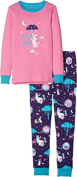 Falling to Sleep Organic Cotton Applique Pajama Set (Toddler/Little Kids/Big Kids)