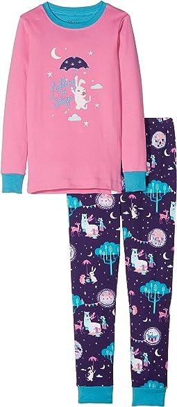 Falling to Sleep Organic Cotton Applique Pajama Set (Toddler/Little Kids/Big Kids)