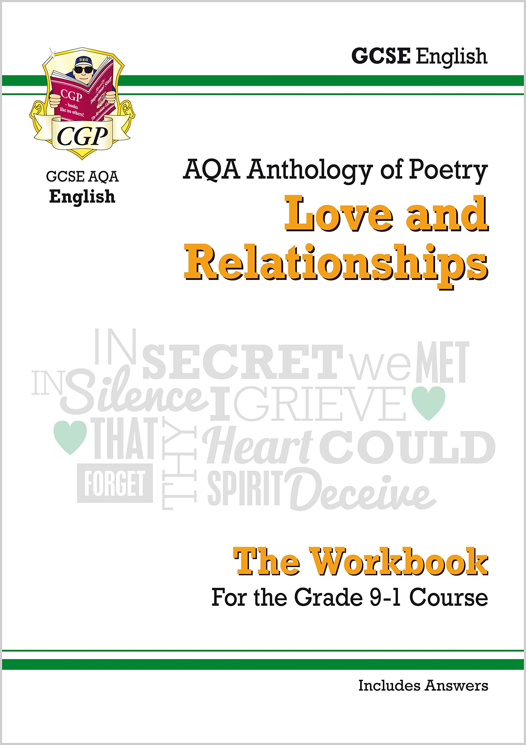GCSE English Literature AQA Poetry Workbook: Love & Relationships Anthology (includes Answers)