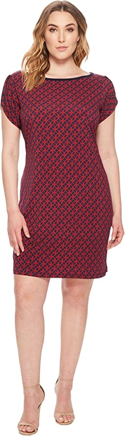 MICHAEL Michael Kors Plus Size Tulip Sleeve Rope Geo Dress