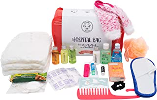 Hospital Bag for Labor and Delivery, Baby Shower Gift, Pre-Packed Set of 20, Pink