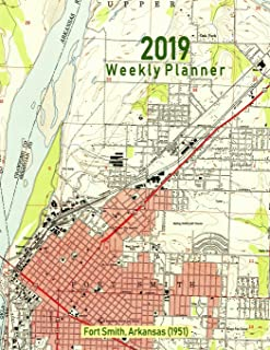 2019 Weekly Planner: Fort Smith, Arkansas (1951): Vintage Topo Map Cover