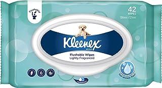 KLEENEX Flushable Fresh Wipes Lightly Fragranced, Pack of 42 Wipes