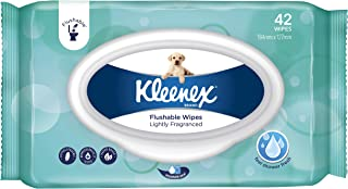 KLEENEX Flushable Fresh Wipes Lightly Fragranced, Pack of 42 Wipes