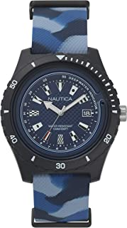 Nautica Mens Quartz Watch, Analog Display and Rubber Strap NAPSRF004